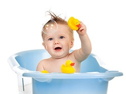 Temperatura apei la baita bebelusului