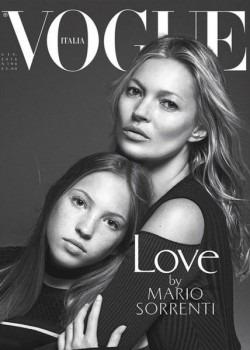 Asa mama, asa fiica: Kate Moss si Lila Grace Moss, pe coperta Vogue