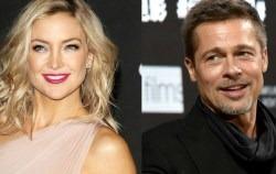 Brad Pitt si-a gasit alinarea in bratele actritei Kate Hudson