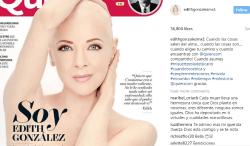 Edith Gonzalez, fara peruca pe coperta unei reviste